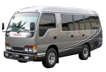 Bali Car Charter | Bali Private Tour | Bali Transport Hire | Minibus Isuzu Elf 12 Seat | Bali Golden Tour