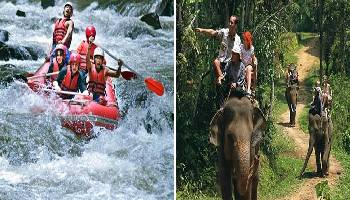 Bali Rafting and Elephant Ride Tour | Bali Double Activities Tour Packages | Bali Golden Tour