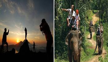 Bali Trekking and Elephant Ride Tour | Bali Double Activities Tour Packages | Bali Golden Tour