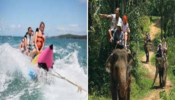 Bali Water Sports and Elephant Ride Tour | Bali Double Activities Tour Packages | Bali Golden Tour