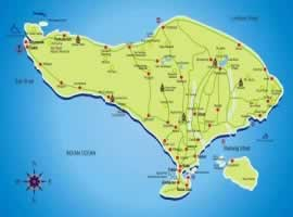 Bali Map | Bali Travel Information | Bali Golden Tour