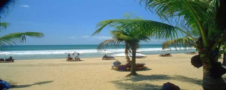 Bali Kuta Beach Is A Holiday Paradise With Beautiful Clean White Sand