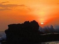 SUNSET TANAH LOT TEMPLE | FLOATING TEMPLE | SEA TEMPLE | BALI INTEREST PLACE | BALI GOLDEN TOUR