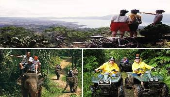 Bali Cycling, Elephant and ATV Ride Tour | Bali Triple Activities Tour Packages | Bali Golden Tour