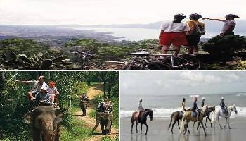Bali Cycling, Elephant Ride and Horse Riding Tour | Bali Triple Activities Tour Packages | Bali Golden Tour