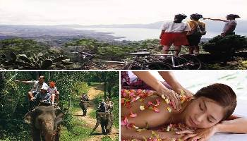 Bali Cycling, Elephant Ride and Spa Tour | Bali Triple Activities Tour Packages | Bali Golden Tour