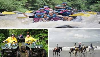 Bali Rafting, ATV Ride and Horse Riding Tour | Bali Triple Activities Tour Packages | Bali Golden Tour