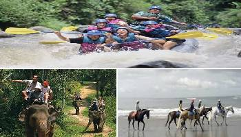 Bali Rafting, Elephant Ride and Horse Riding Tour | Bali Triple Activities Tour Packages | Bali Golden Tour
