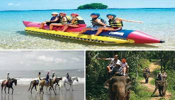 Bali Water Sports, Horse Riding and Elephant Ride Tour | Bali Triple Activities Tour Packages | Bali Golden Tour